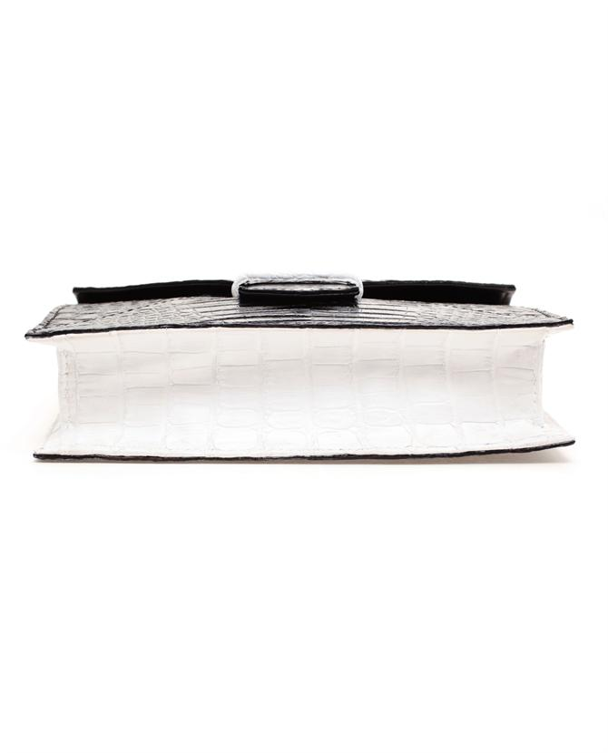 Just Saint Jacques crocodile clutch bag at Browns Fashion.com bottom