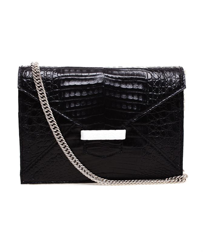 Just Saint Jacques crocodile clutch bag at Browns Fashion.com