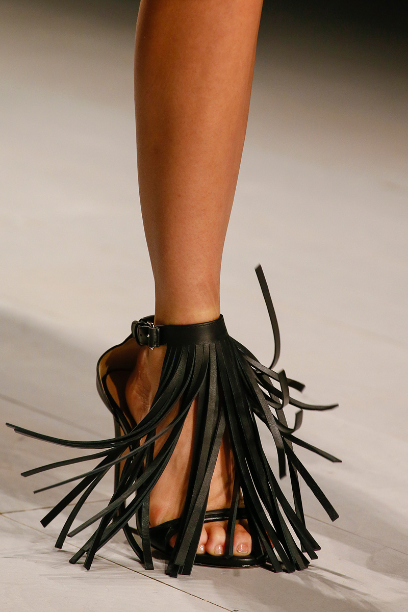 Marios Schwab Rtw Spring 2013 fringe sandal