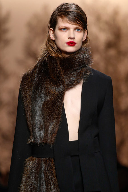 Marni Fall 2013 fur scarf