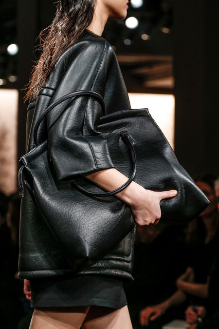 Marni Fall 2013 leather dress and bag
