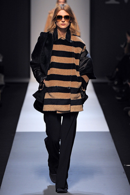 Max Mara Fall 2013 striped coat