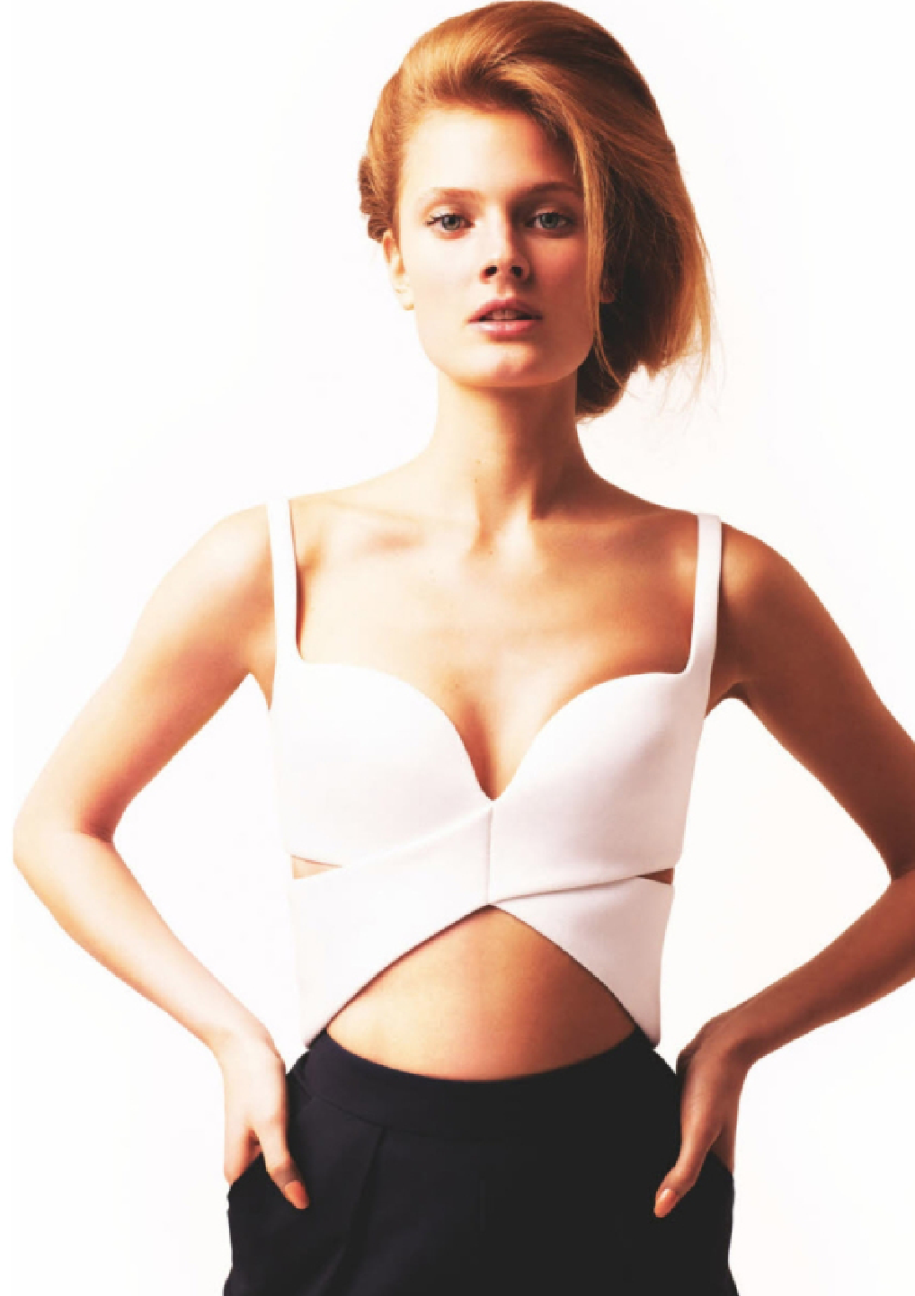 Numéro March 2013 Balenciaga Bustier by Katja Rahwles