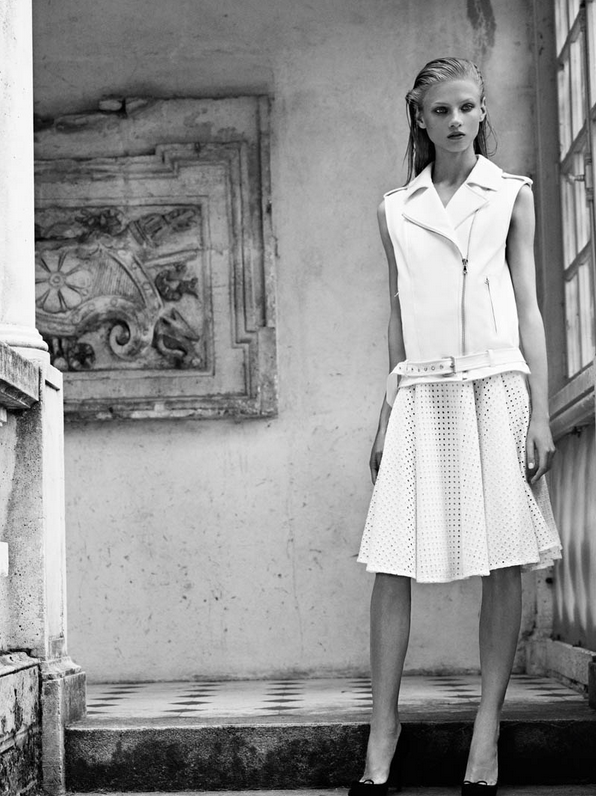 Pierre Balmain Spring 2013 white look