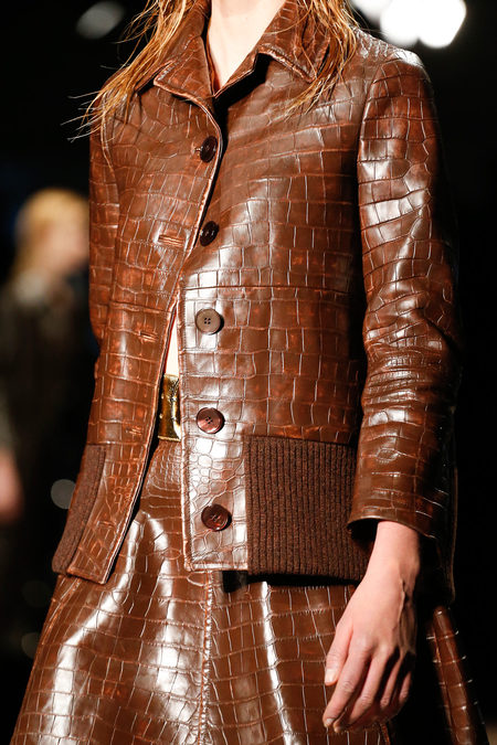 Prada Fall 2013 brown crocco