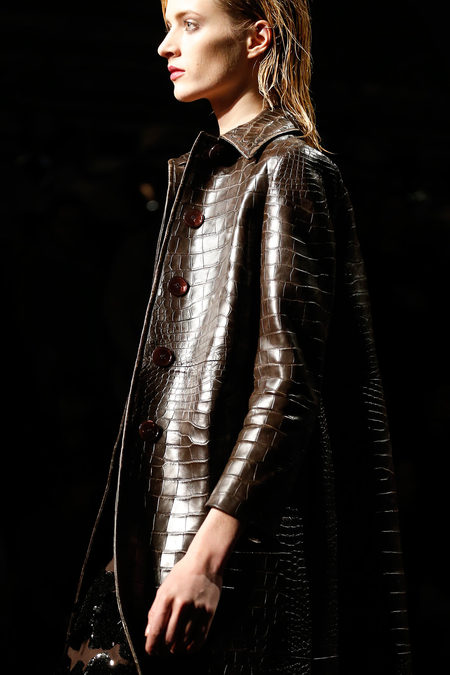 Prada Fall 2013 chocolate brown croco