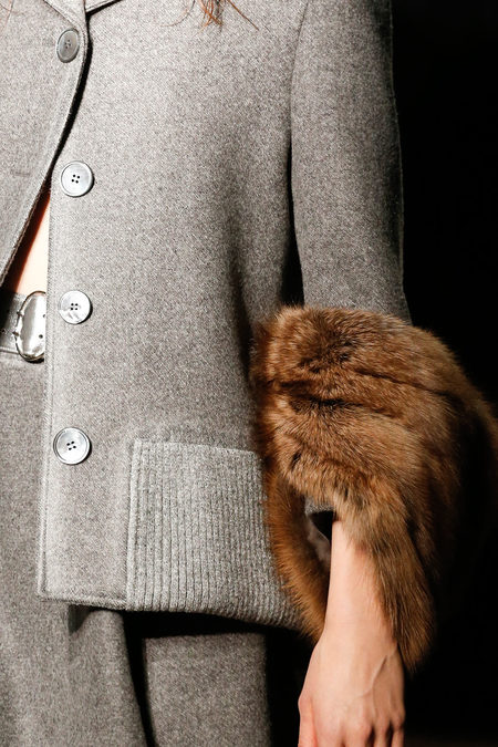Prada Fall 2013 grey coat