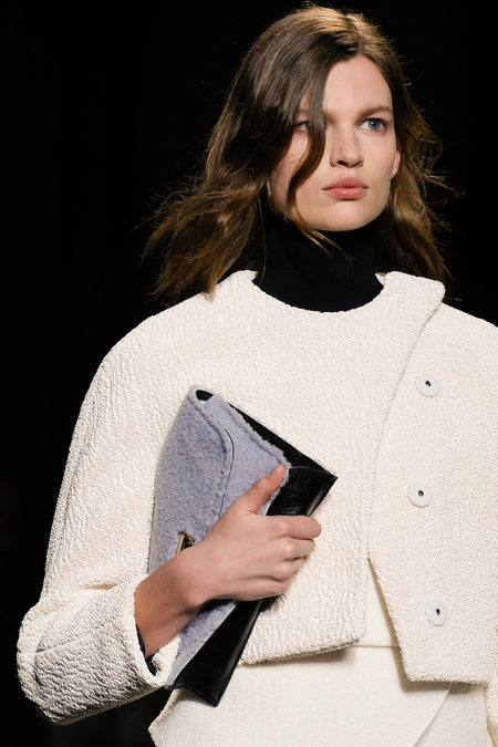 Proenza Schouler Fall Winter 2013 fur clutch grey