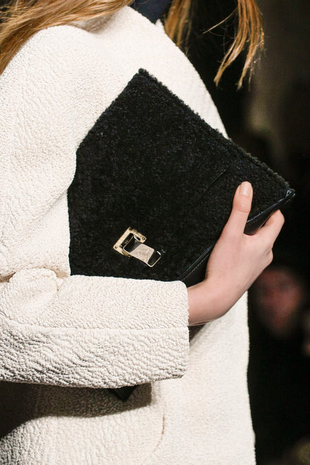 Proenza Schouler Fall Winter 2013 fur clutch