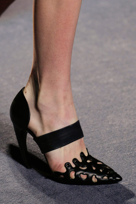 Proenza Schouler Fall Winter 2013 pumps laser cut