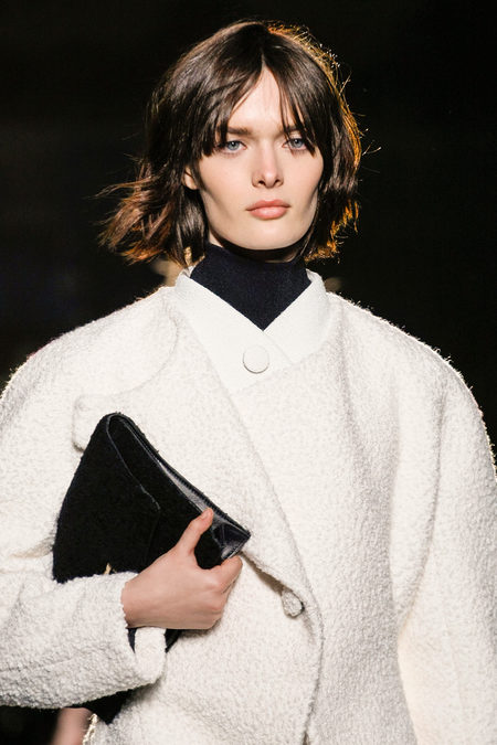 Proenza Schouler Fall Winter 2013 white coat