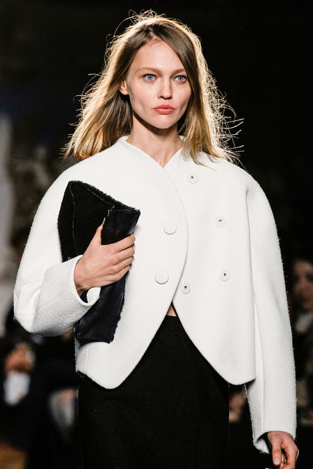 Proenza Schouler Fall Winter 2013 white jacket