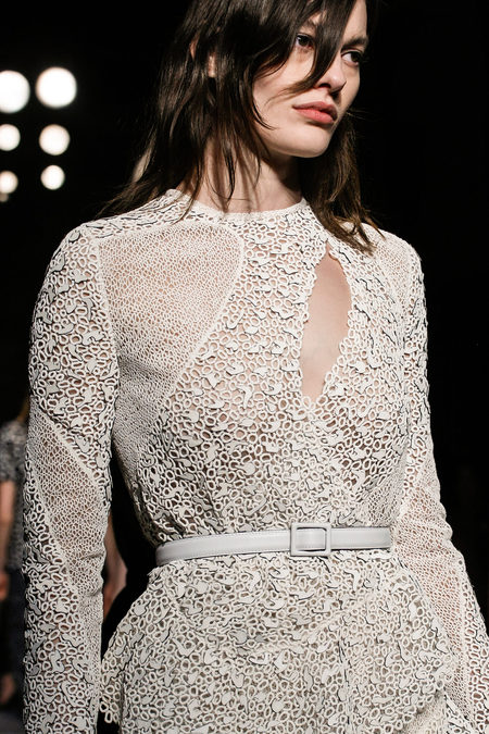 Proenza Schouler Fall Winter 2013 white lace