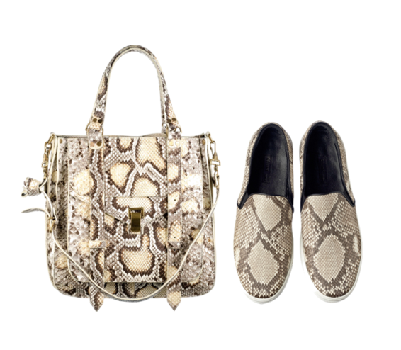 Proenza Schouler bag python and Celine vans python