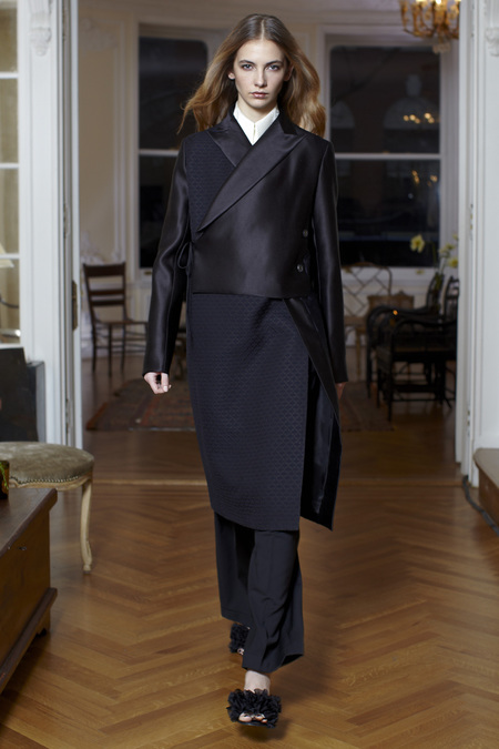 The Row Fall Winter 2013 satin coat