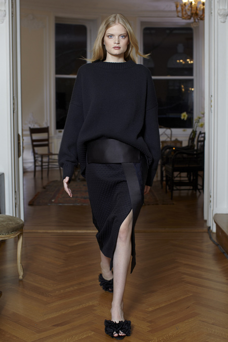 The Row Fall Winter 2013 satin skirt