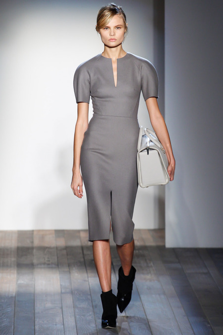 Victoria Beckham Fall 2013 beige dress