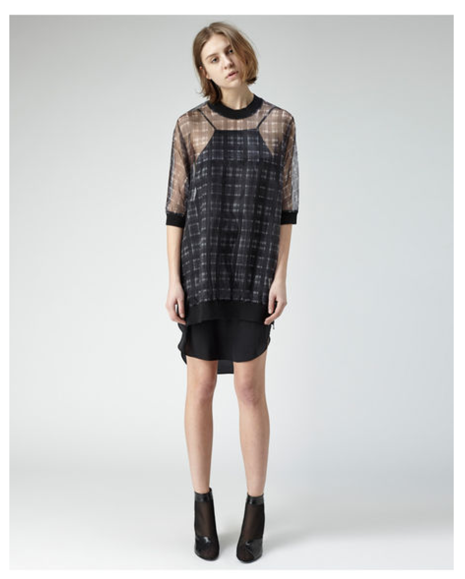 3.1 Phillip Lim Trom L'Oeil Plaid dress style