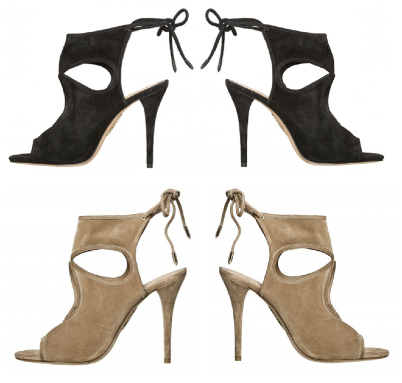 Aquazurra Sexy Thing suede heels shoes