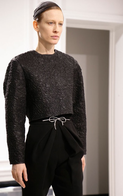 Balenciaga Fall 2013 black boxy top