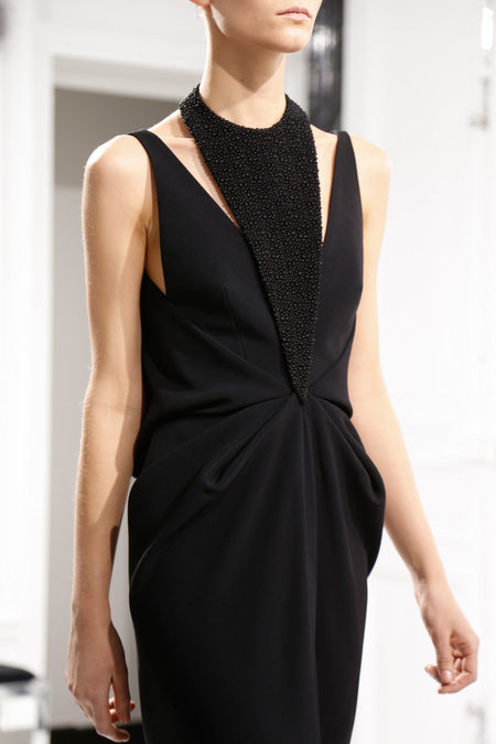 Balenciaga Fall 2013 black dress