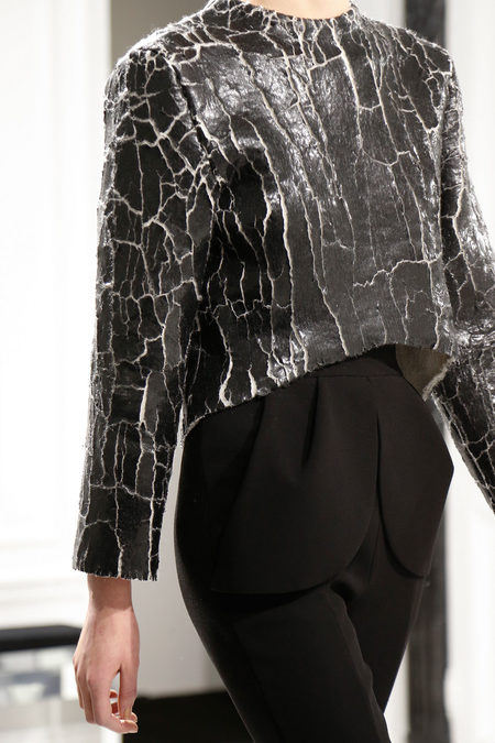 Balenciaga Fall 2013 cracked top