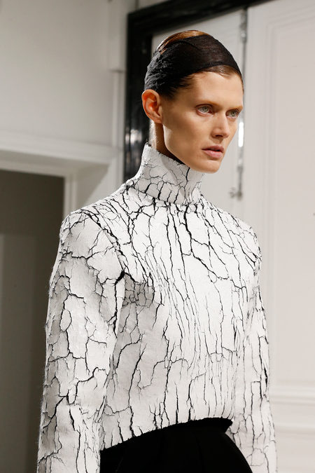Balenciaga Fall 2013 white top cracked