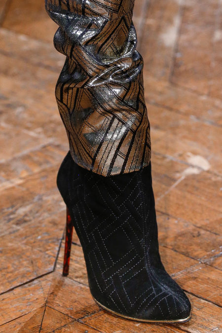 Balmain Fall 2013 gold and suede boots