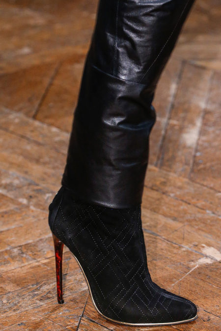 Balmain Fall 2013 suede ankle boots