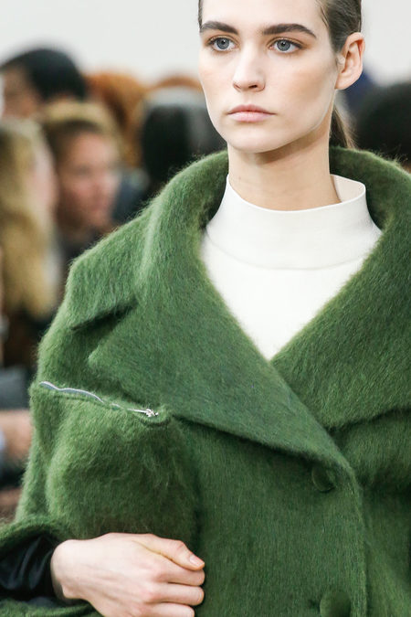 Céline Fall 2013 greencoat details