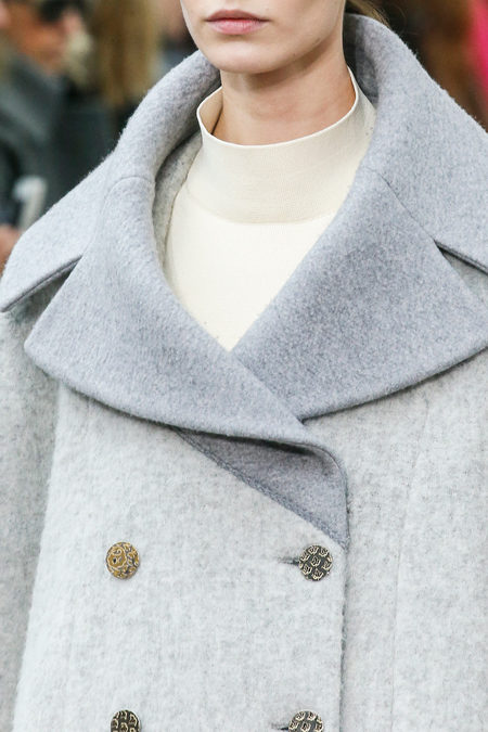 Céline Fall 2013 grey coat details