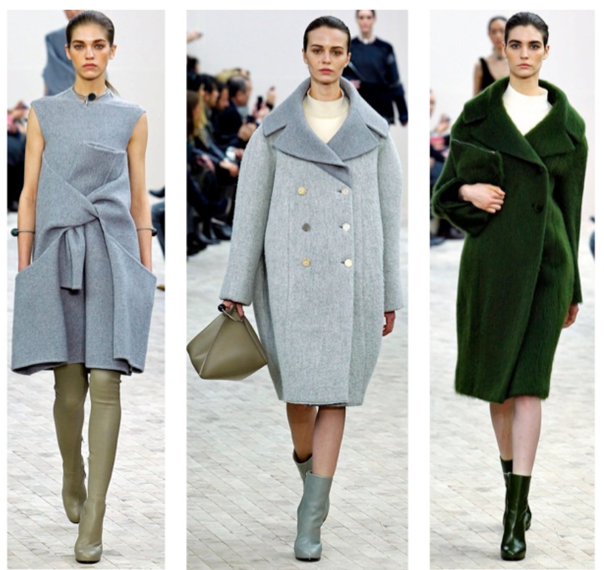 Céline RTW Fall 2013 green and grey