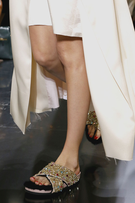 Céline Summer 2013 sandals slippers in gold
