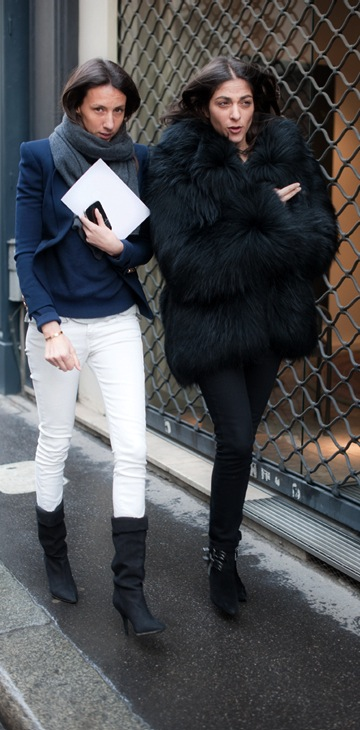 Capucine Safyurtlu and Geraldine Saglio in fur
