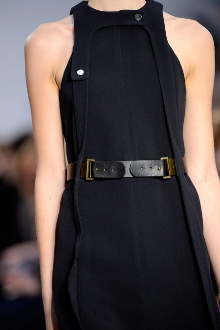 Chloé Fall 2013 black sleeve less dress