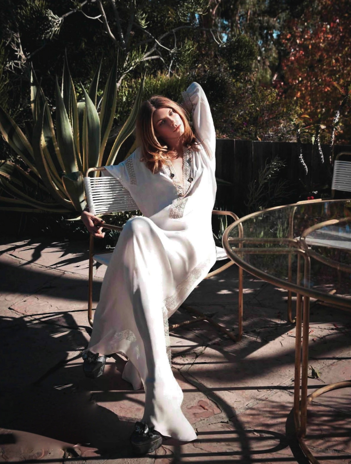 ELLE France February 2013 Angela Lindvall Blumarine white dress