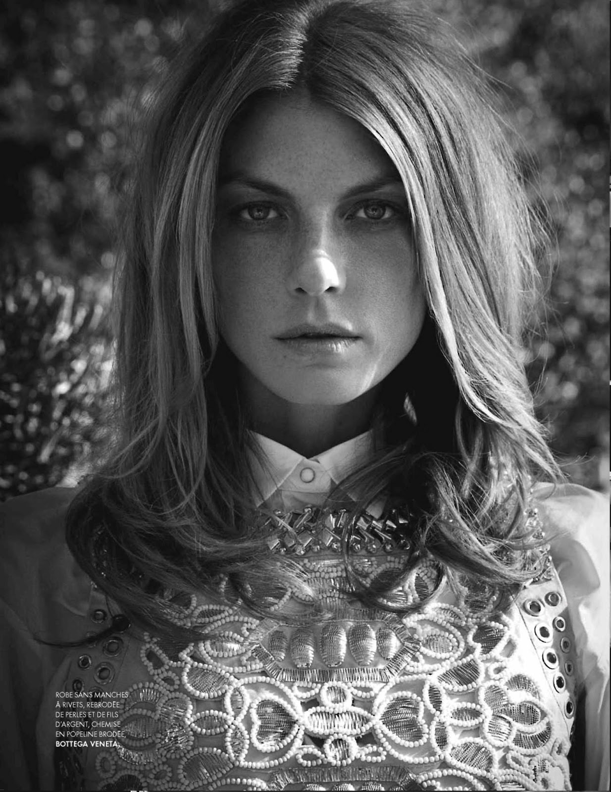 ELLE France February 2013 Angela Lindvall close up