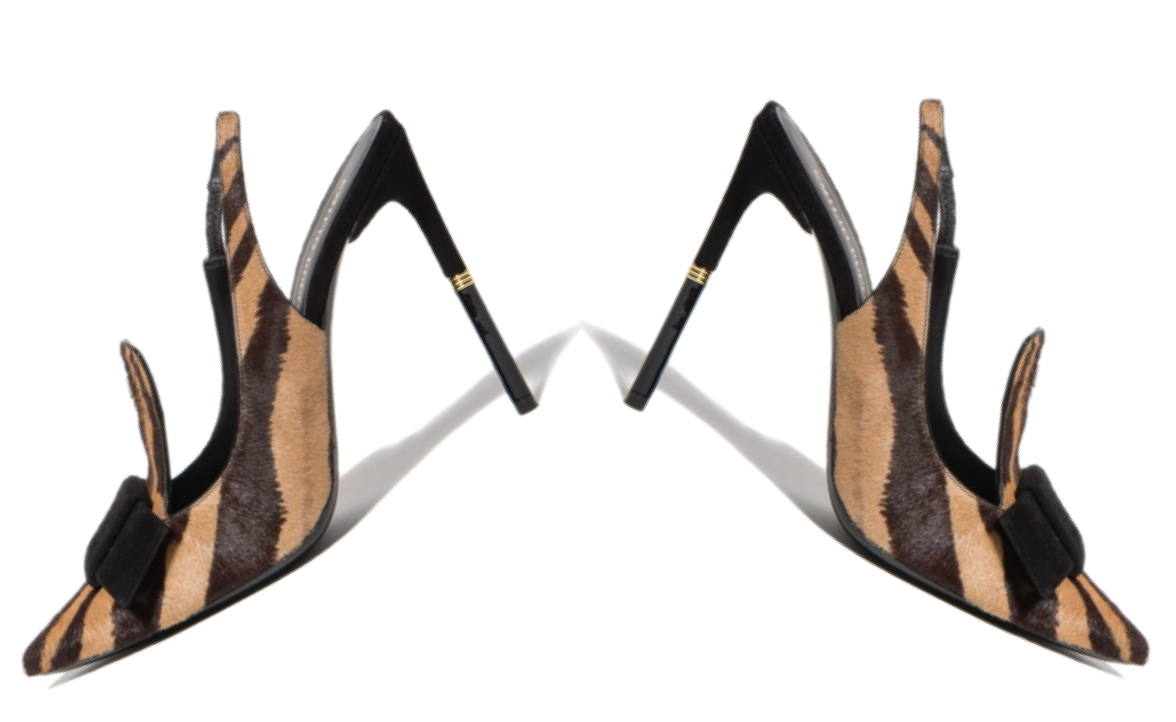 Emilio Pucci Ready To Wear Fall 2013 slingback zebra and pony hair heels