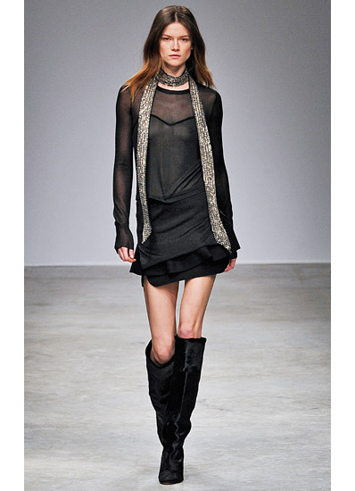Isabel Marant Fall 2013 collection pony hair boots