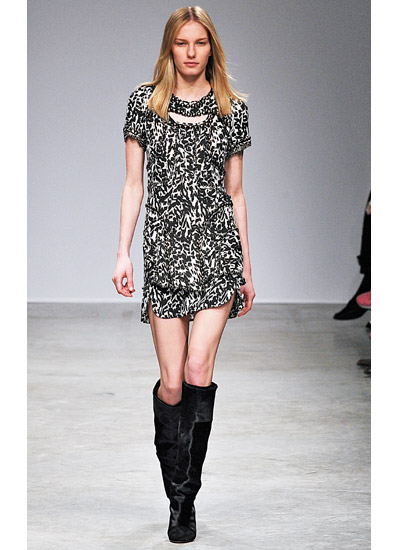 Isabel Marant Fall 2013 collection printed dress