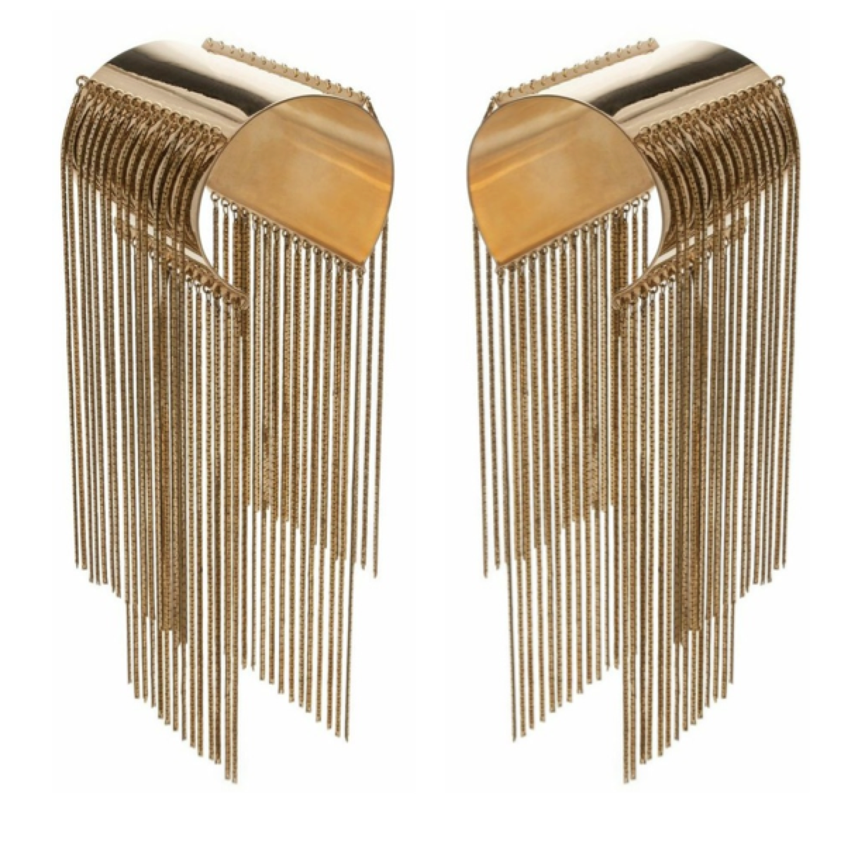 Monica Sordo Medusa cuff with fringes in gold