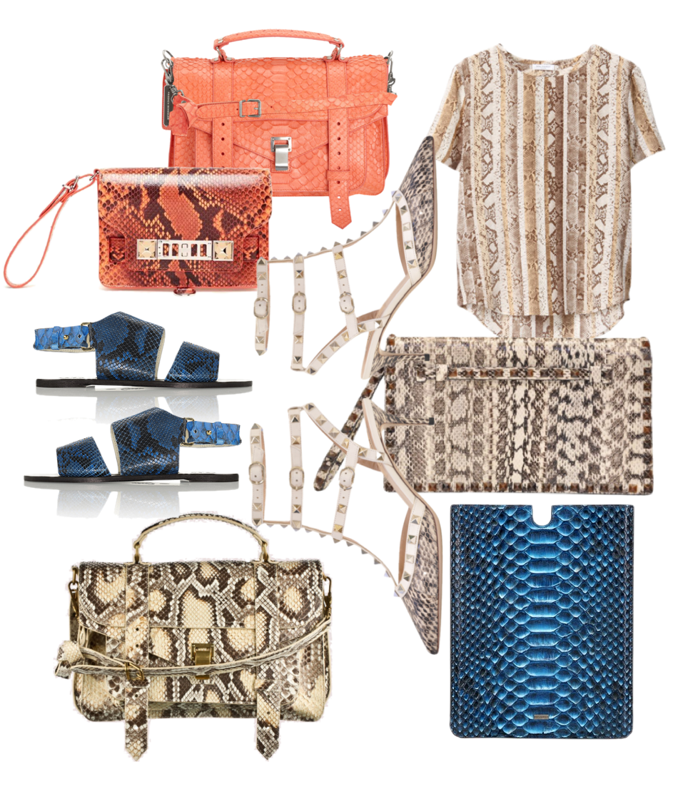 Python on my mind - Proenza Schouler bags, Equipment t-shirt, Valentino bag and shoes, Dolce & Gabbana iPad case, ATP Atelier sandals