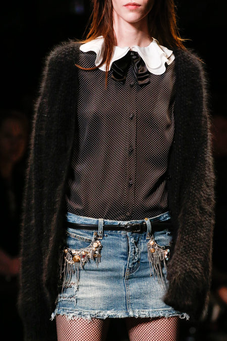 Saint Laurent Fall 2013 denim skirt