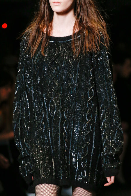 Saint Laurent Fall 2013 glitter sweatshirt