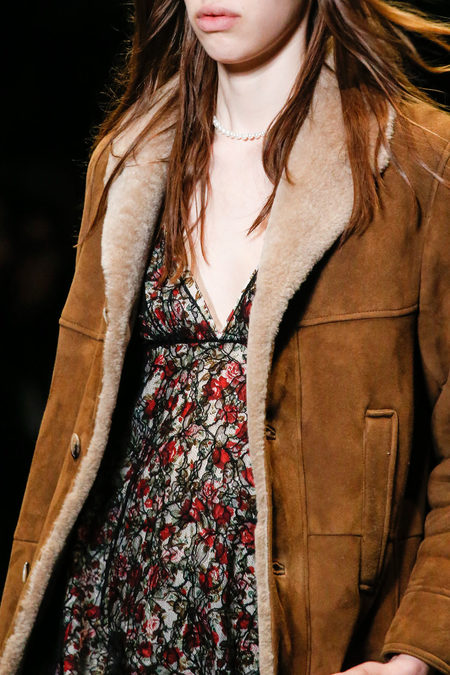Saint Laurent Fall 2013 shearling jacket