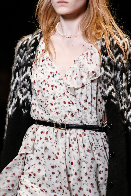 Saint Laurent Fall 2013 vintage dress