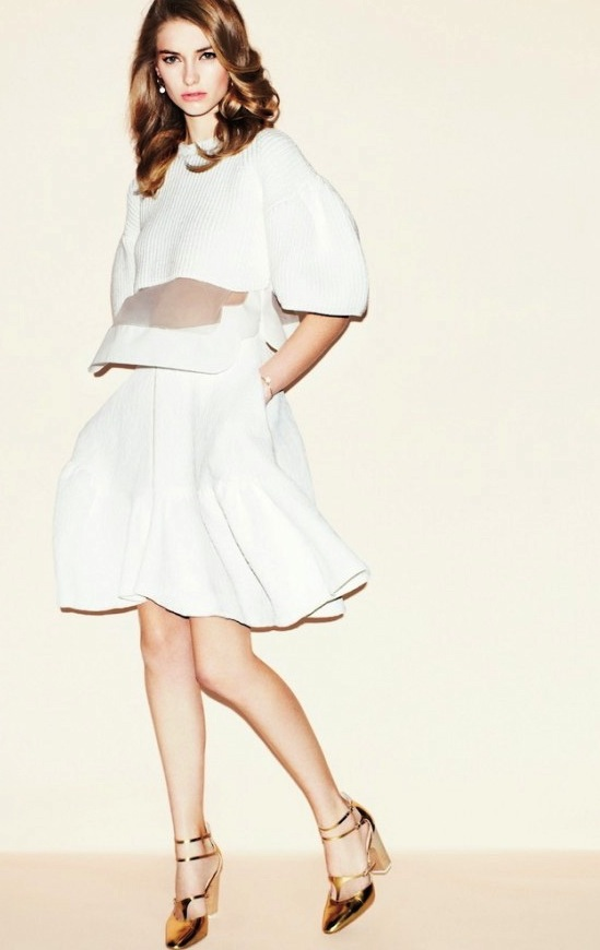 Vogue Japan April 2013 Iris by Matt Irwing white Chloe dress