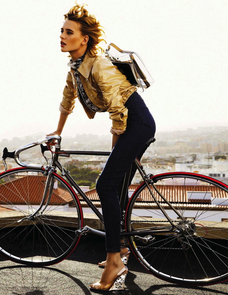 Vogue Netherlands April 2013 Milou van Groesen bicycle