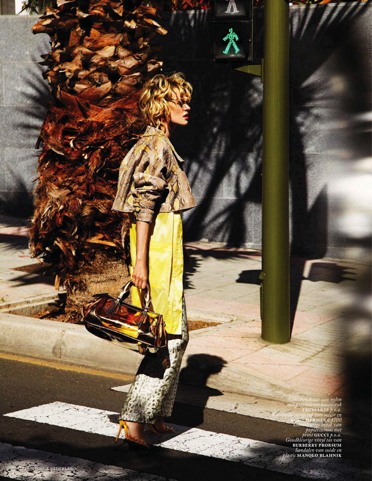 Vogue Netherlands April 2013 Milou van Groesen python and yellow