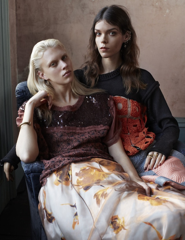 Vogue UK March 2013 Meghan Collison & Juliana Schurig by Josh Olins-1